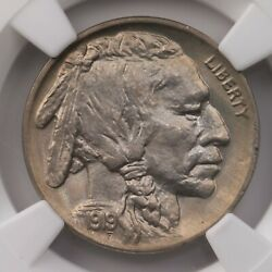 1919 Buffalo 5c Ngc Certified Ms66 Mint State Graded 66 Nickel Coin