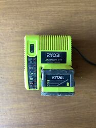Ryobi OP140 24V Charger amp; Ryobi OP241 24V Battery...PARTS OR REPAIR UNTESTED