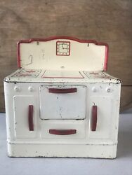 Wolverine Vintage Antique Play Stove Oven Range Kitchen Tin Metal Play Doll Toy