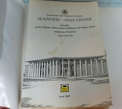 1967 Plainview Texas Southwestern Bell Telephone Directory - Area Code 806