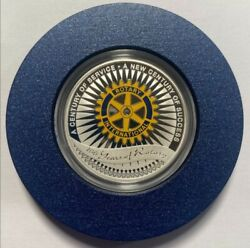 Silver Coin 100 Years Of Rotary International Club 1oz.