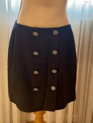 Cheap And Chic By Moschino Beautiful Mini Skirt Two Rows Of Brandet Buttons Li