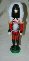 Soldier Guard Sword Tall Hat English Swiss Nutcracker 15 Wood Holiday Vintage