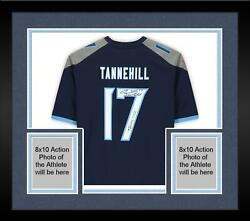 Frmd Ryan Tannehill Tennessee Titans Signed Navy Game Jersey And Tannessee Insc