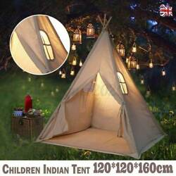1.6m Play Tent Teepee Kids Childs Playhouse Sleeping Dome Carry Bag Portable