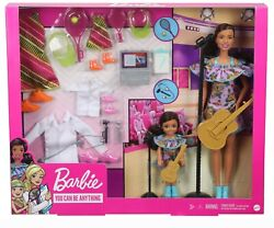 Barbie And Chelsea Careers Playset 2 Brunette Dolls And 3 Various Outfits