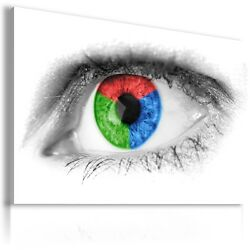 Abstract Colorful Eye Canvas Wall Art Picture Large Sizes Ab602 Mataga
