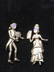 Victorian Sterling Silver Vintage Antique Brooches