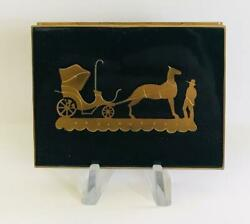 Vintage Volupte Horse And Buggy Carriage Powder Compact