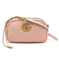 Bag Gg Marmont Shoulder Diagonal Hanging Chain Quilted Leather No.9751