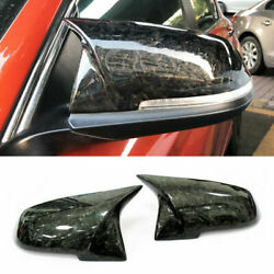 Real Forged Carbon Fiber Side Mirror Cover Fit For Bmw F20 F30 F32 F87 F22 E84