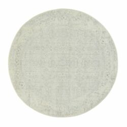10and039x10and039 Beige Wool And Silk Hand Loomed Fine Jacquard Round Rug R63258