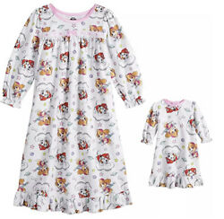 Flannel Paw Patrol Set Nightgown With Gown For 18andrdquo Doll Size 2t