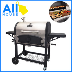 Cast Iron Grill Heavy Duty Outdoor Expert Dual Chamber Bbq Grill Box Charcoal