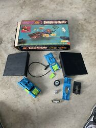 Vintage 1970's Kenner Ssp Smash Up Derby '57 Chevy And '57 Ford W/box