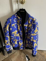 Versace Barocco Reversible Bomber In Size 48 New From Versace Store 100 real