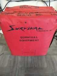 Survival 4 To 6 Person Aviation Life Raft W/survival Kit New Old Stock