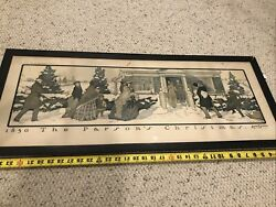 """""""1850 The Parson's Christmas"""" Stetson Crawford Country Life In America 1903"""