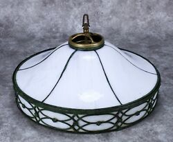 Antique White Slag And Bronze Ceiling Inverted Lamp Shade