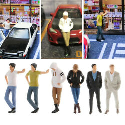 6x 1/64 S Scale Hand Painted Classic Man Figure Building Table Ornaments