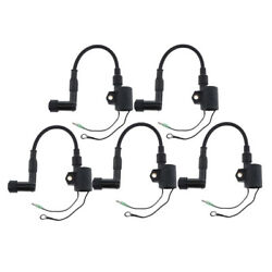 5 Pack Marine Dual Output Ignition Coils Fit For Yamaha 40hp Outboard Motors