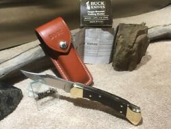 Buck 110 Knife - 1990 Vintage Finger Grooved With Oem Box And Sheath Nos