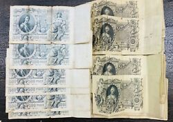 Lot Of 55 1912 Russia 100 And 500 Ruble Currency Notes
