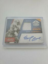 2016 Absolute Earl Campbell Jersey Auto D 05/50 Oilers Autograph