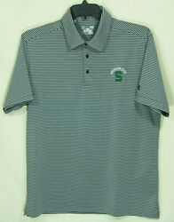 Under Armour Michigan State Spartans Polo Shirt Mens Lg Excellent Condition