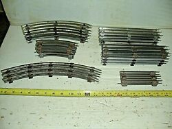 Old Vintage O27 Gauge Lionel Train Track Lot 11 Curve And 12 Straight Misc. Sizes