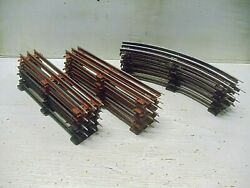 Old Vintage O Gauge Lionel Train Track Lot Of 10 Straights And 5 Curves