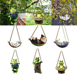 Garden Statue Swinging Outdoor Hanging Lawn Statues Decoration Ornament