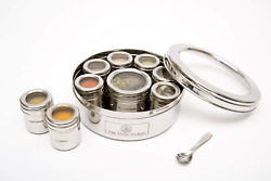 The Three Sisters India Hand Crafted Stainless Steel Masala Dabba Spice Tins   K