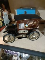 Jim Beam Jewel Tea Company Truck Porcelain, Metal And Bottle 11'' Long Exc Cond