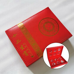 Vintage Wooden Commemorative Coin Display Box With 27mm Coin Cases Protector