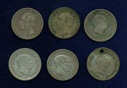 German States Hannover 1840-1853 Silver Coins Lot Of 6