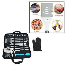 35 Pcs Premium Outdoor Grill Bbq Cooking Utensil Tool Set With Carry Case