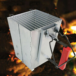 Foldable Charcoal Chimney Fire Starter Rapid Fire For Camping Grill Stove