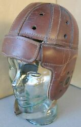 Vintage Leather Football Helmet By Stall And Bean 5445l Used