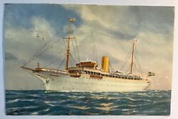 Onboard Stella Polaris Ship Postcard Spain Stamps Posted 1957