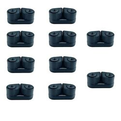 10x Cam Cleat Wre Fairlead Sailing Kayak Equipment Fit For 3-12mm Dia. Rope