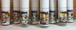1991 Hardees The Flintstones The First 30 Years Set Of 8 Glasses Very Good Cond