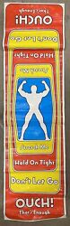 """Vintage 1976 Stretch Armstrong Vinyl Poster 48"""" Stretch-o-graph Kenner Rare"""