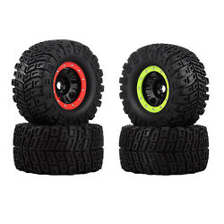 2x Rc 166mm Rubber Tyre For Bush G5 E6 G2 Hpi Savage Hp 1/8 Rc Monster Parts