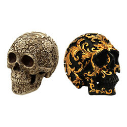 2x Antique Resin Day Of The Dead Life Size Statue Halloween Party Dsketop