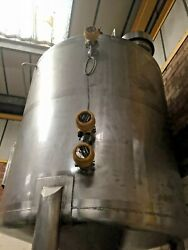 Used Stainless Steel Storage Vessel 1500 L With Agitator And Level Sensors