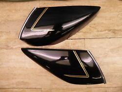Vintage Custom Motorcycle Front Fairing Lower Panels Left And Right Pl1012-bp3+