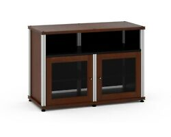 Salamander Synergy 329 A/v Cabinet W/ Two Doors And Center Channel Shelf Walnut