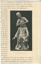 Antique Hide And Seek Children Boy Girl Horn Guess Who Game Sculpture Small Print