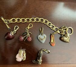 Juicy Couture Charm Bracelet With 6 Charms